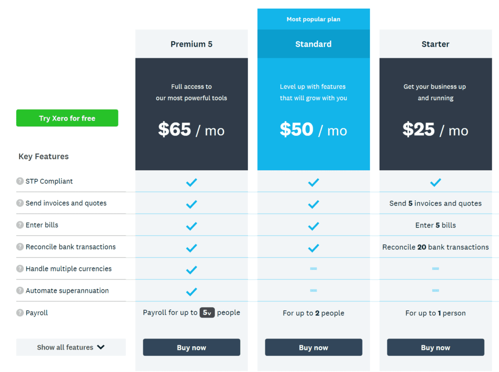 Xero are the market leader and their pricing more aligns to the value than MYOB Essentials